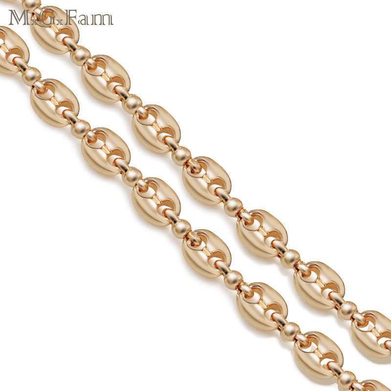 MxGxFam Coffee Beans Necklaces Jewelry 53cm for MEN Gold Color Global Sale Jewelry Fashion Lead and Nickel Free