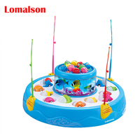 26pcs/set Fishing toy Electric Educational Toy Rotating Magnetic Magnet Fish Fishing for Kid Children Game