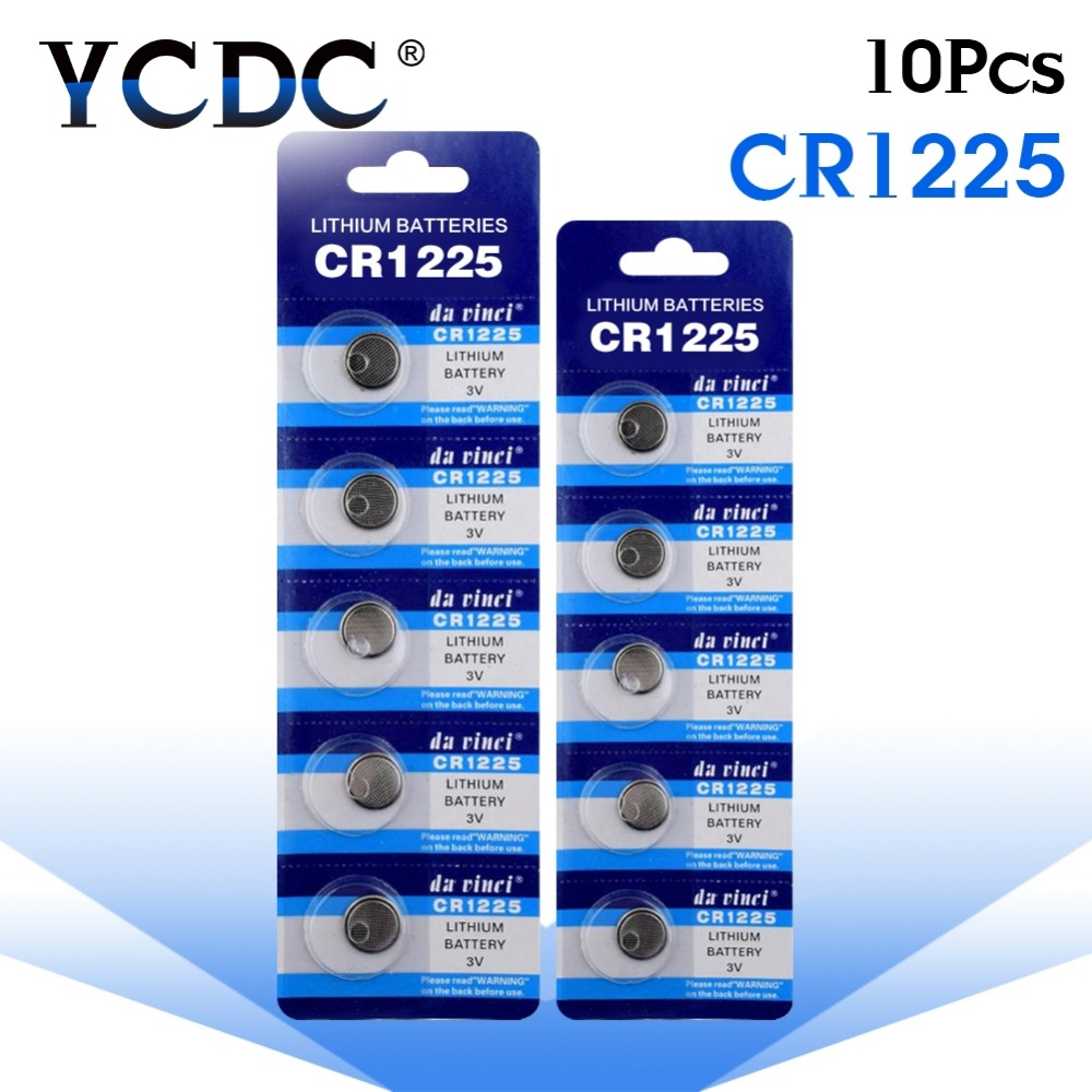 YCDC 10X Great Capacity Big Promotion Hot Selling 10 X CR1225 3V Lithium Battery BR1225 EBR1225