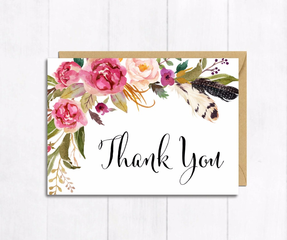 New Arrival Personalized Wedding Thank You Card /Custom