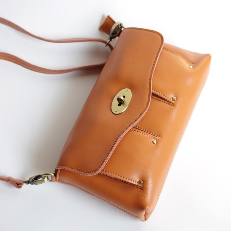 Vintage Style Women Shoulder Bag Simply Design Geniune Leather Lady Crossbody Bag Girls Small Fashion Messenger Bag Bolsa недорого