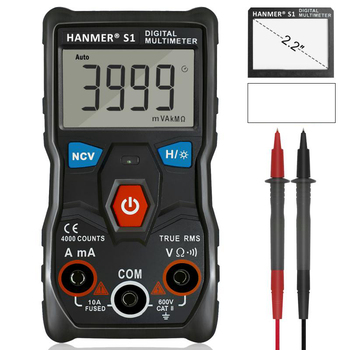 Digital Multimeter Auto Range Professional LCD automatic Smart Multimeters Voltage Ammeter Tester