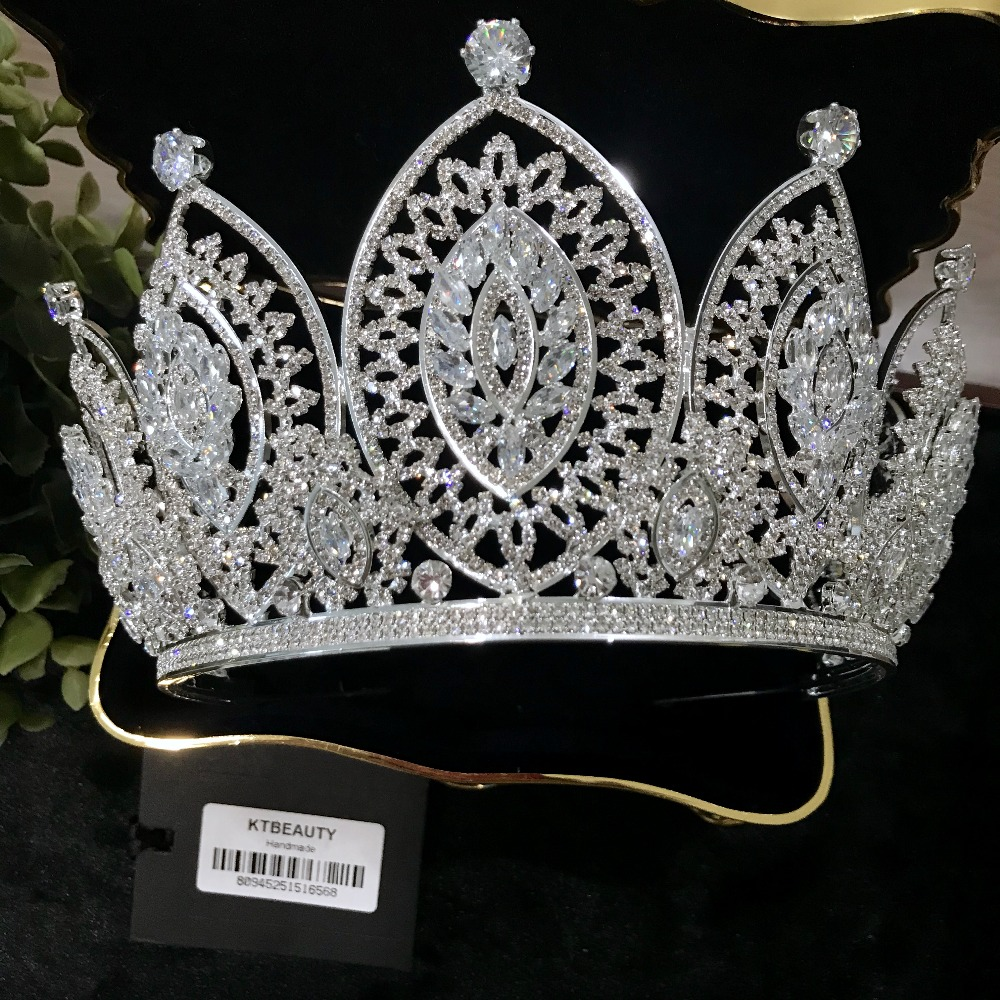 Free DHL Advanced Customization Luxury Zircon Crown Tiara Rhinestones Royal Queen Princess Pageant Party Crown Bridesmaids