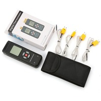 Digital Thermometer Thermocouple Contact Moisture Meter Tester Portable Handheld Thermometer 4 Channels K Type TL TK04