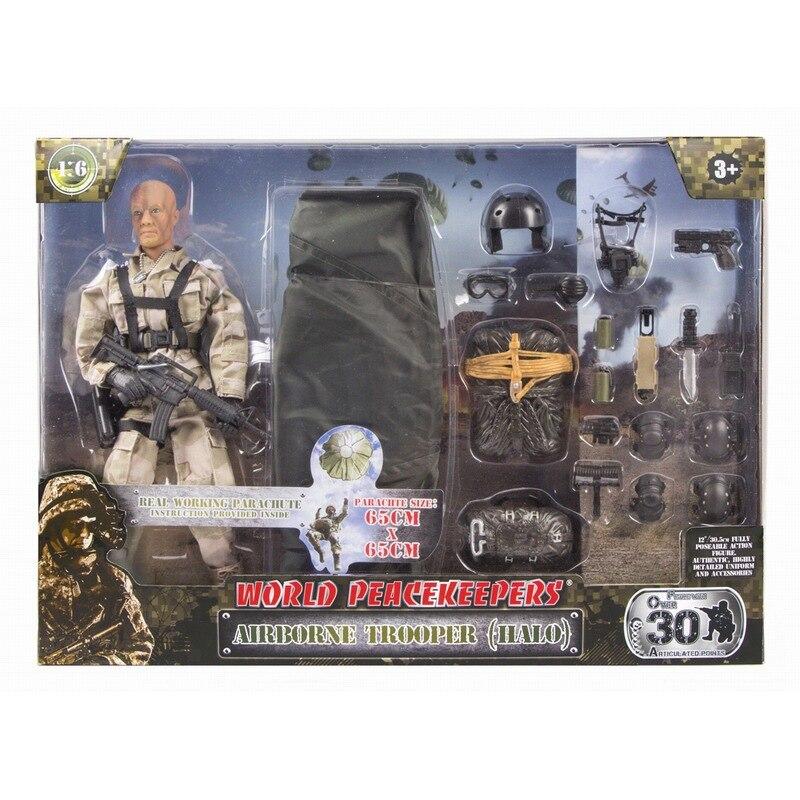 Figuras de acción del soldado de la paz del mundo 1/6 figuras de acción del modelo militar de juguete figura de anime juguetes para niños - 3