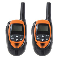 NEW 2pcs 0 5W 20 Channels Backlit LCD Screen Walkie Talkie Orange For Personal Safely Security