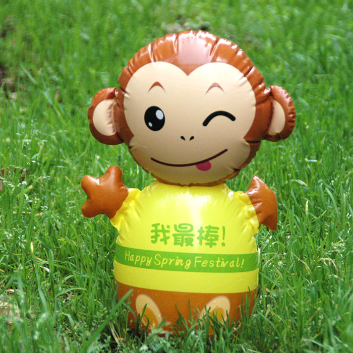 "Year Of The Monkey Cartoon ""daruma"" Inflatable Toys Baby Parent-child Interactive Animals PVC > 3 years old Children Gifts"