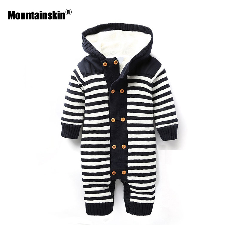 Mountainskin 2018 Winter Autumn Spring Baby Boys Girl Sweater Kids Rompers Children Suit Cardigan Thick Warm Outwear 0-24M SC894 boys girls winter sweater kids knitted pullover sweater thicken warm kids cardigan sweater double breasted children outwear 2 5t