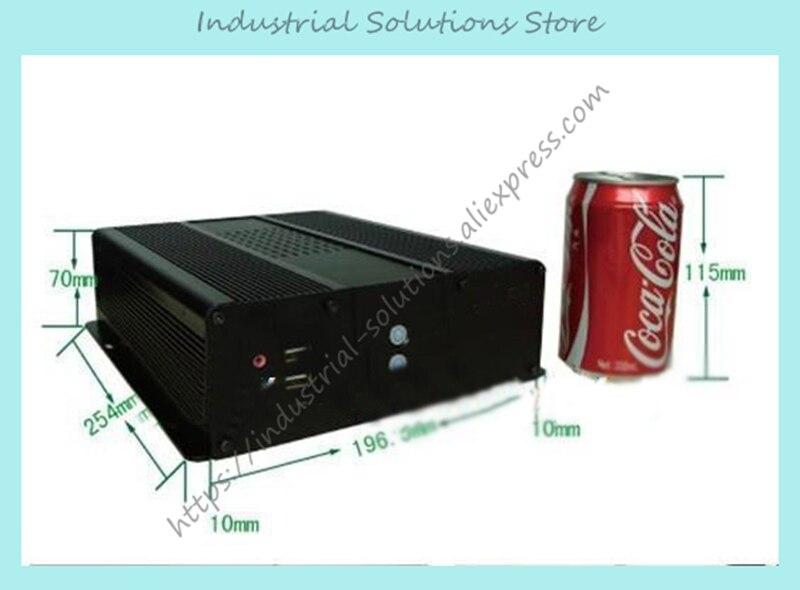 все цены на  NEW Mini itx case mini itx aluminum car computer case 17 motherboard 2.5 hard drive  онлайн