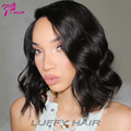 8A Short Human Hair Wigs Brazilian Virgin Human Hair Lace Front Wigs Short Bob Wavy Full Lace Human Hair Wigs For Black Women