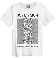 Joy Division 'Unknown Pleasures' (White) T Shirt Amplified Clothing OFFICIAL2019 fashionable Brand 100%cotton Printed Round