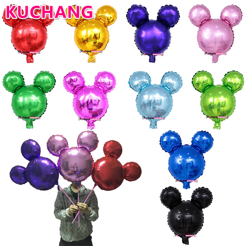 10pcs/lot Cute Mini Mickey Mouse Balloons Cartoon Head Shape Inflatable Helium Ballons theme Birthday Party supplies Kids Toys