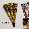 Hot Sell 25g India Edition Authentic Original Kashmir Imports Henna Natural Jet Black Plant Henna Temporary Tattoo Painted Cream