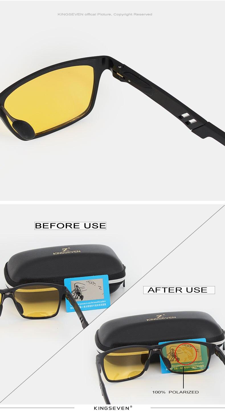 KINFSEVEN Fashion Aluminum Magnesium Polarized Night vision Sunglasses Men Sun Glasses UV400 Driving Eyewear oculos Shades 6