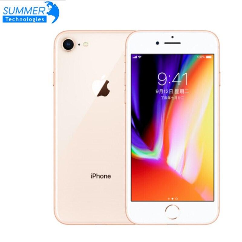 Original desbloqueado Apple iPhone 8 LTE teléfono móvil 4,7 12.0MP Hexa Core 2GB de RAM iOS huellas dactilares se Smartphone iPhone 8