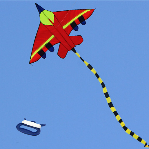 Outdoor Fun Sports NEW Plane / Airplane Kite / Fighter With Handle And Line Good Flying For Kids