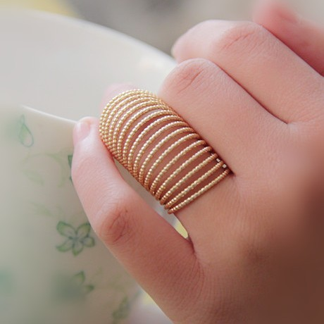 Timlee R136 Free Shipping,New Vintage Alloy Long Spring Finger Rings, Jewelry wh
