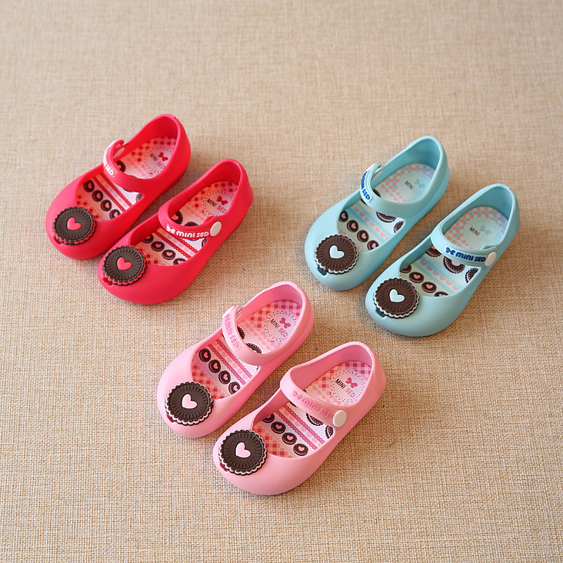 Cute Baby Girls Candy Cartoon Cookies Sandals Shoes Princess Baby Children Footwear Candy Color Candy Smell