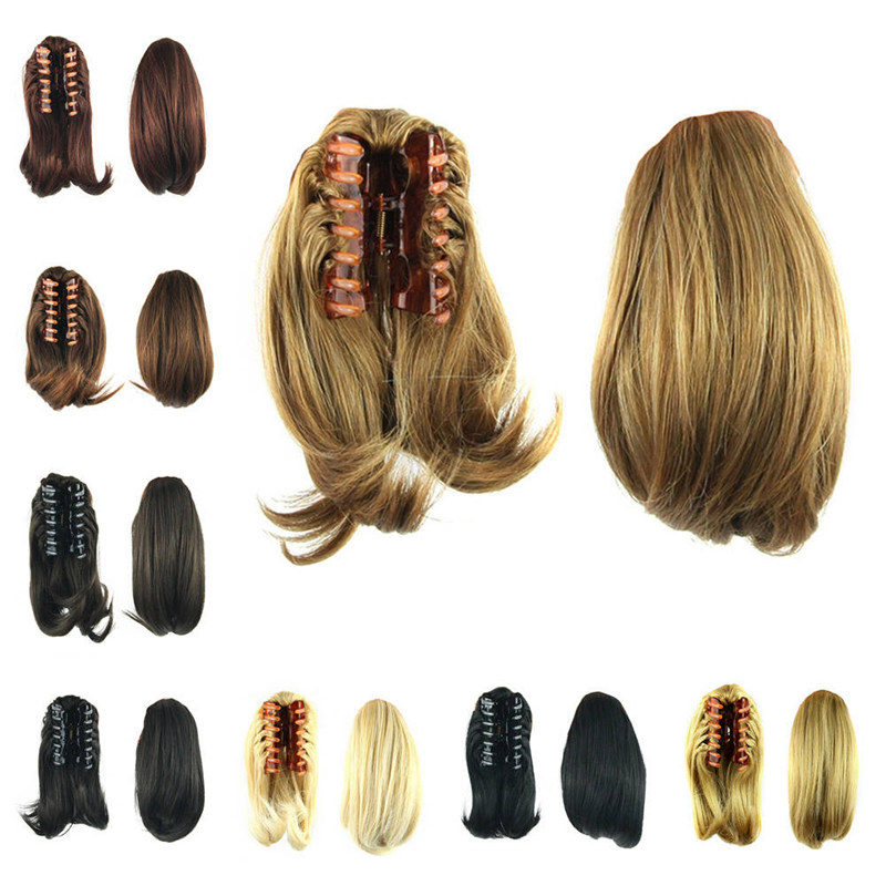 Synthetic Women Claw On Ponytail Clip In Hair Extensions -6335