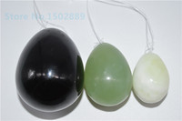 HIMABM Free shipping egg mix natural Set/3 jade eggs for kegel kegel weight yoni egg ben wa ball pelvic floor muscle exercise