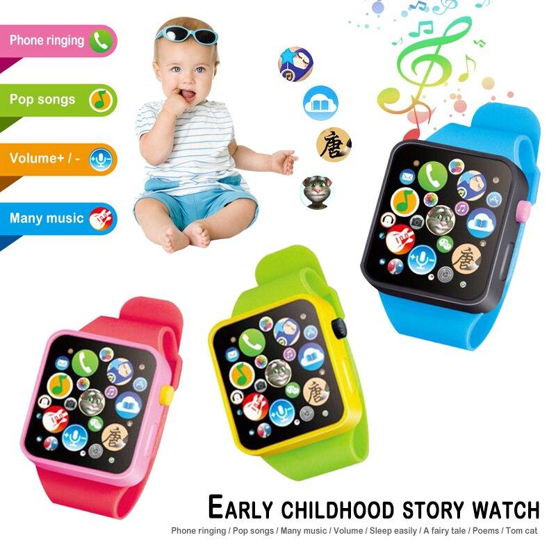 Дети раннего образования игрушка наручные часы 3D сенсорный экран Музыка умное обучение ребенка Горячая продажа подарки на день рождения