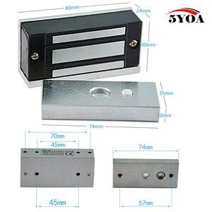 Image 2 - 12V אלקטרוני מגירת מנעול חשמלי מגנטי ארון דלת מנעולי 60kg 100lbs כוח מחזיק אלקטרומגנטית מיני M60