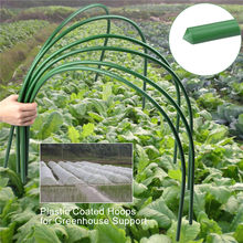 6Pcs Steel with Plastic Coated Hoops Greenhouse Hoops for Plant Cover Support Grow Tunnel Plant Stent For Garden Fabric Supplies(China)