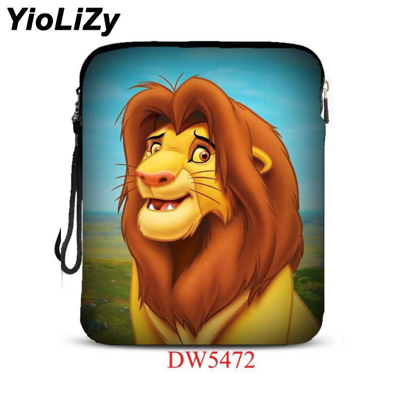 costomize print lion 9.7 inch tablet bag pouch notebook Protective Case Cover For iPad Air 2 For iPad pro mini 9.7 IP-5472