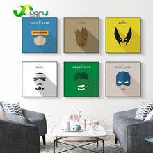 Nordic Poster Canvas Painting Captain America Super Hero Wall Pictures For Kids Room Home Decoraction Style Art No Frame