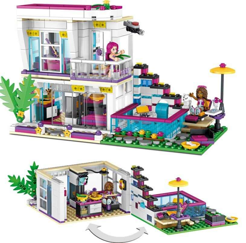760 PCS Ngôi Sao Nhạc Pop Livi của Nhà Xây Dựng Khối Tương Thích Legoings Người Bạn Cho Cô Gái DIY hình Gạch Đồ Chơi Giáo Dục cho childre