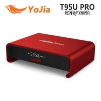 Amlogic S912 T95U PRO Android 6.0 Smart TV Box Octa rdzeń 2 GB/16 GB 2.4/5 GHz Podwójny WiFi H.265 VP9 UHD 4 K Mediów odtwarzacz