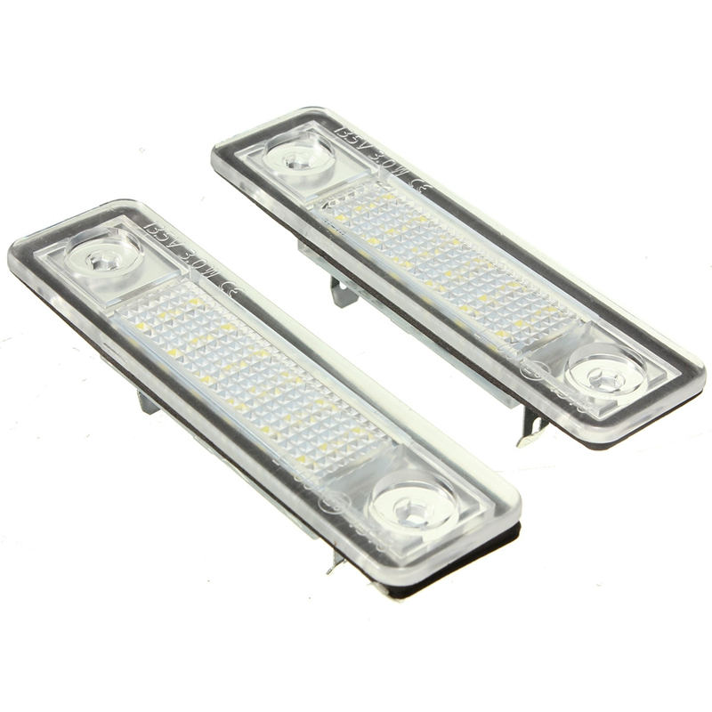 2X Car LED License Plate Lights 12V White Number Plate Lamp For Opel Astra G Astra F Corsa B Zafira A Vectra B For Omega A 1set smd number plate lamp led kit error free for opel zafira b astra h corsa d insignia led license plate light