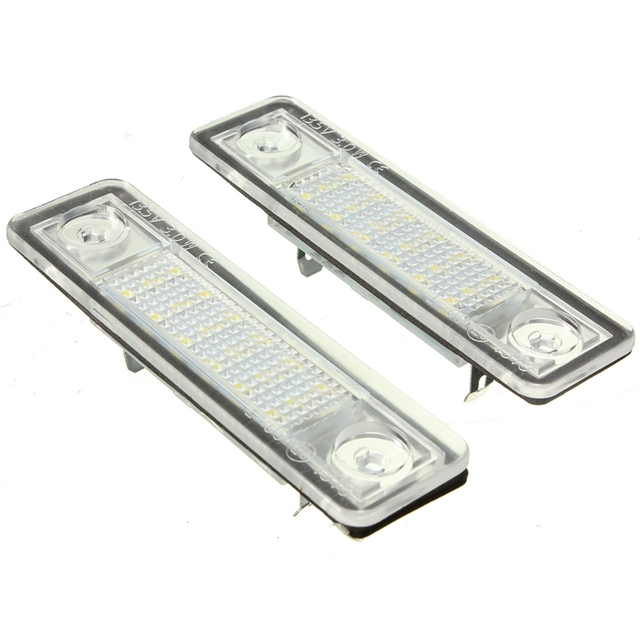 2x coche LED Marcos de matrícula luces 12 V blanco lámpara de ...