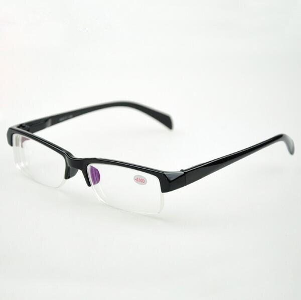 931515aa5 الصلبة للجنسين نصف إطارات بلاستيكية البصرية نظارات طالب النظارات  FrameMyopia وصفة طبية نظارات للقراءة النساء الرجال oculos