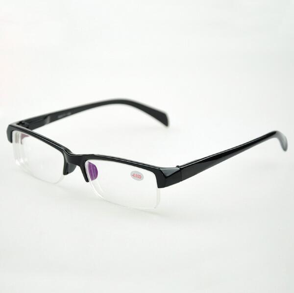 e73e9f3cd Sólida Unisex Metade De Plástico Armações de Óculos Ópticos Óculos de  Estudante FrameMyopia Prescrição Óculos de Leitura Mulheres Homens óculos