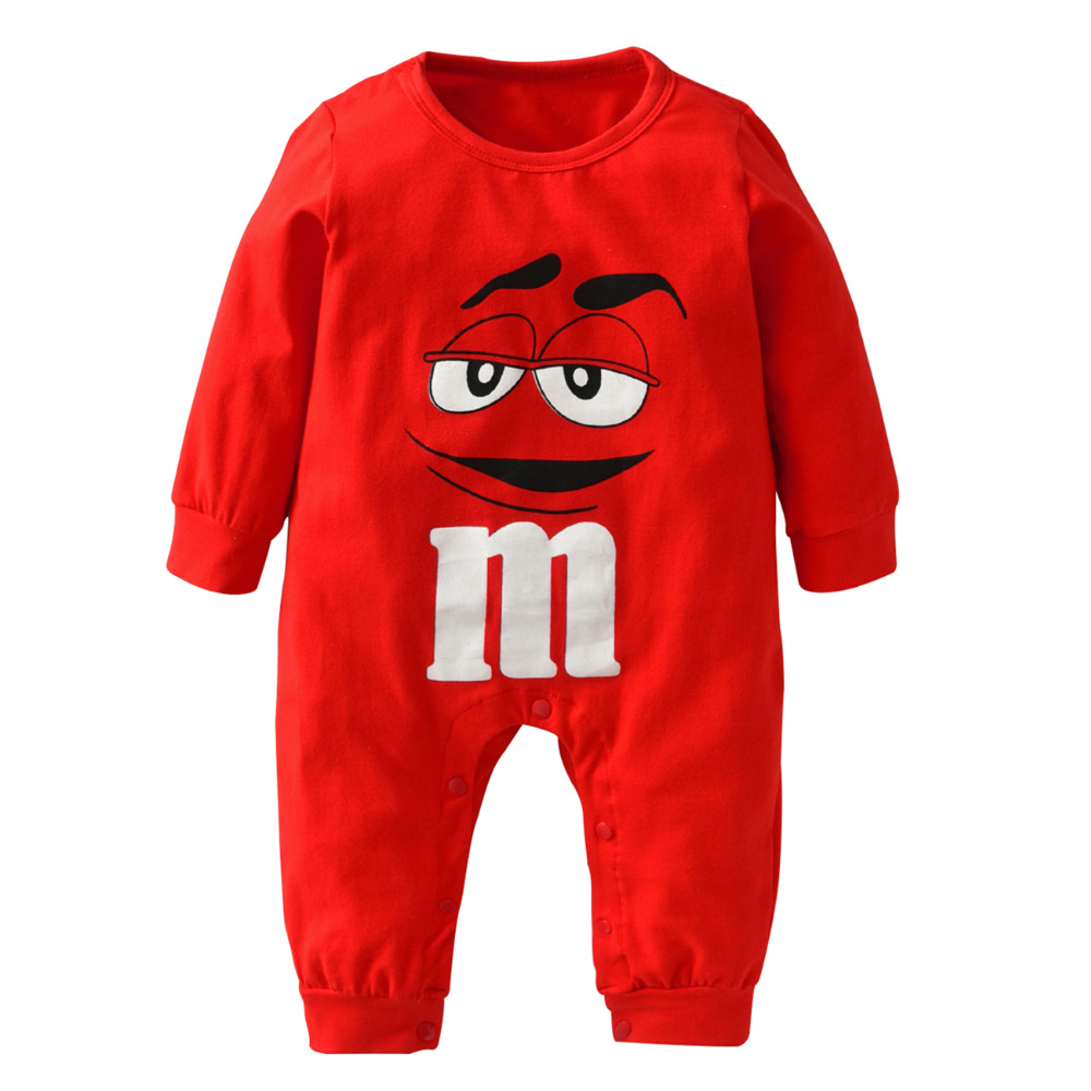 Autumn Style Baby Boys Girls Rompers Newborn Clothes 100%Cotton Long Sleeve Cartoon M Beans Jumpsuit Toddler Casual Clothing Set | Happy Baby Mama