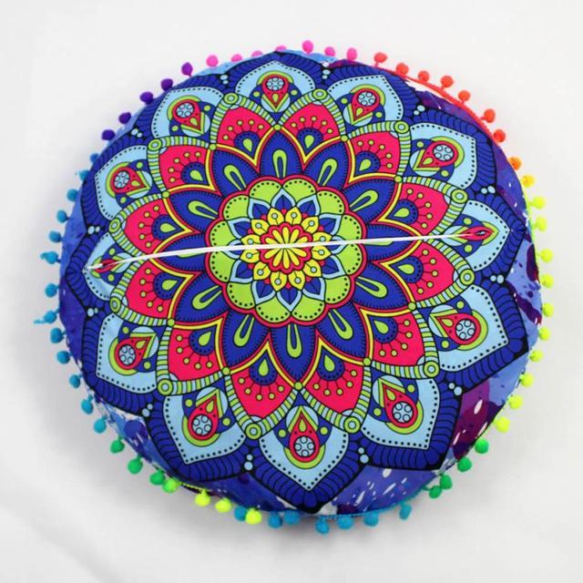 Hot! Indian Mandala Floor Pillows Round Bohemian Cushion Pillows ...