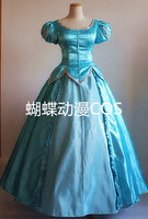 the litter Mermaid ariel princess cosplay costume fairy tale cosplay dress for party gift hair accessory