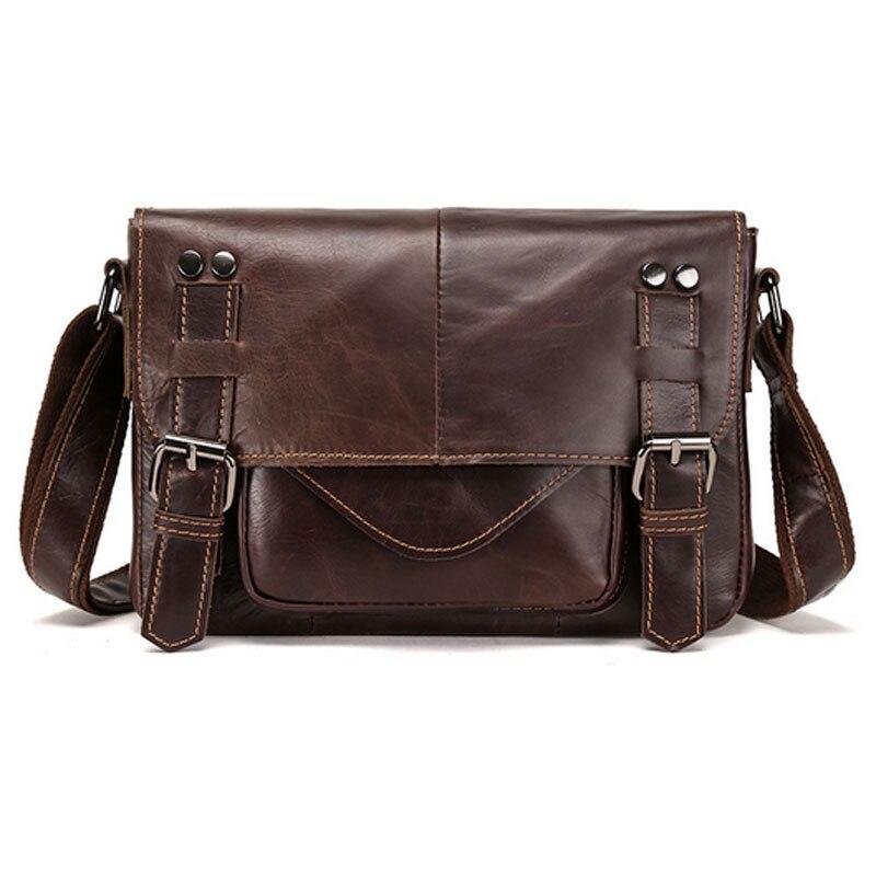BULLCAPTAIN Genuine Leather Men Business Satchel Fashion Casual Cross Body Bags Brand Male Messenger Single Shoulder Bag