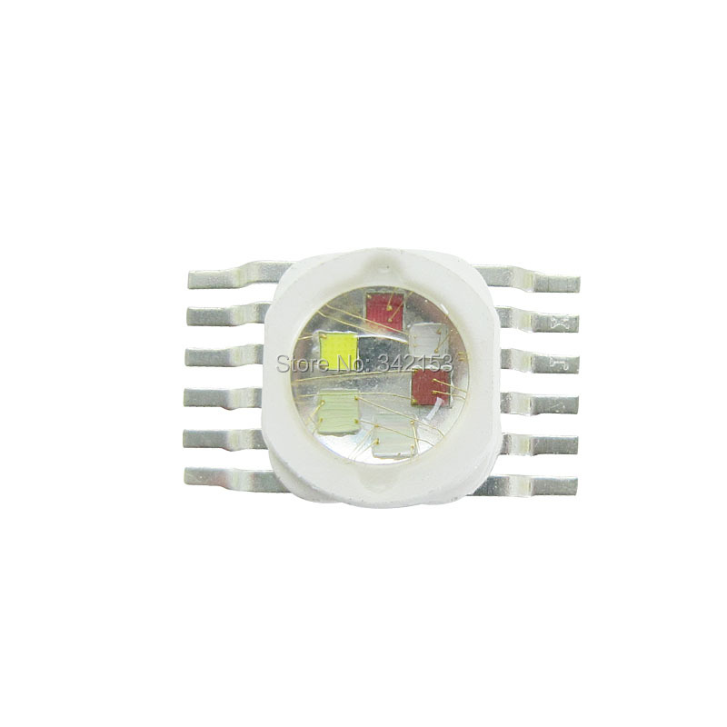 6W High Power Led Beads 6 Colors RGBYWUV Red Green Blue Yellow White UV Led Emitter For DIY Stage Lamp Lightings