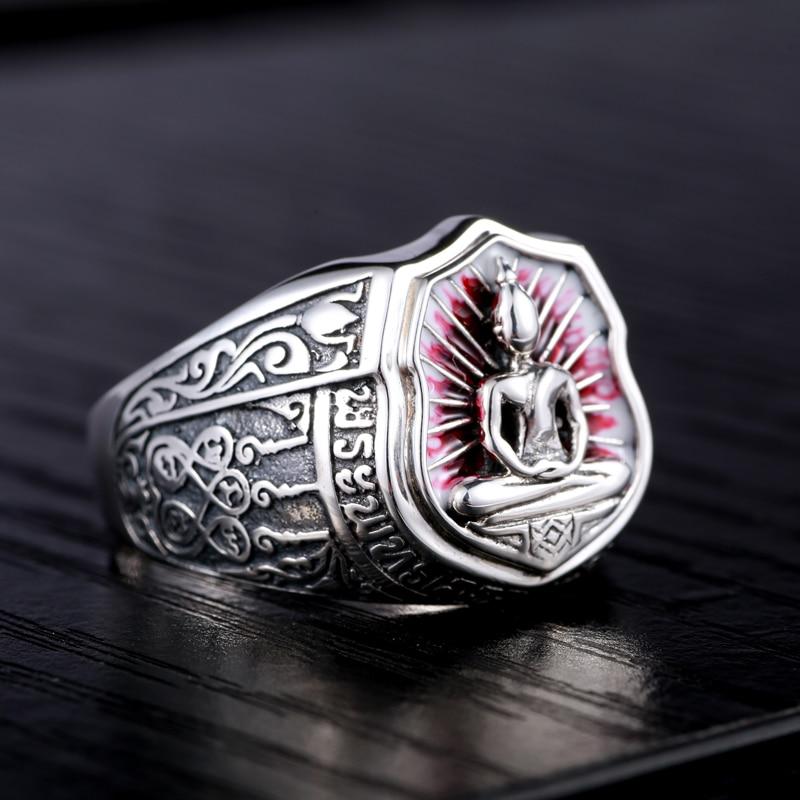 925 silver jewelry silver ring retro men Thailand Chong DIFO personality ring ring retro personality demons ghosts and demons men s 925 silver ring