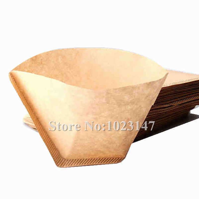 100pcs/lot Practical Coffee Tea Tools Prefolded 102 Hand Drip Paper Coffee Filter Coffee Machine Parts! 350pcs per pack coffee filters paper coffee maker replacement professional for aeropress coffee tea tools kitchen tools