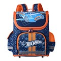 Boys School Bags Children's Backpack Folded Orthopedic Backpacks Racing Cars Pattern Portfolio Kids Stachel Mochila Infantil