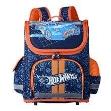 Jungen Schultaschen kinder Rucksack Gefaltet Orthopädische Rucksäcke Racing Autos Muster Portfolio Kinder Stachel Mochila Infantil