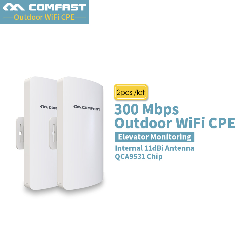 2Pcs! Comfast CF-E112N Outdoor Mini Wireless WIFI Extender Repeater AP 2.4G 300M Outdoor CPE Router WiFi Bridge Access Point AP