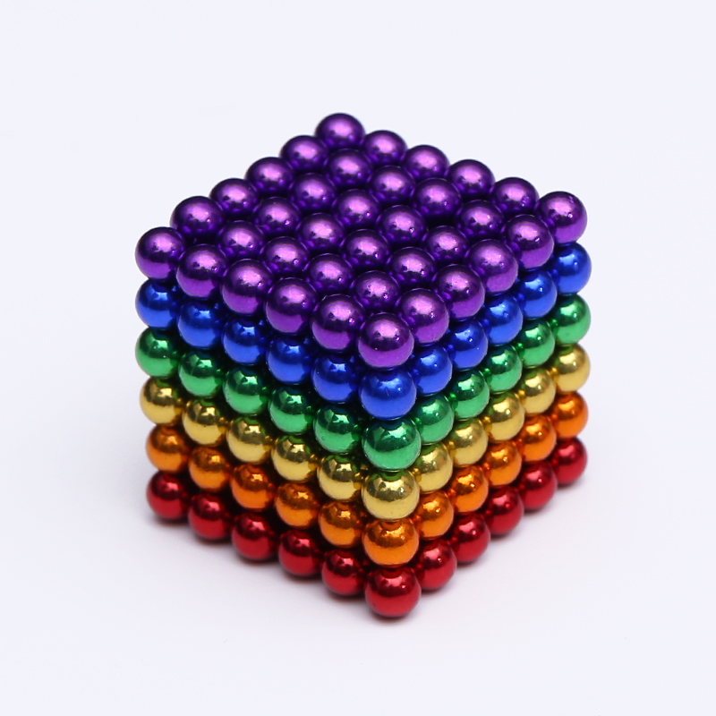 2019 New 5mm Metaballs 216pcs Magnetic Balls Neo Cube With Metal Box(China)