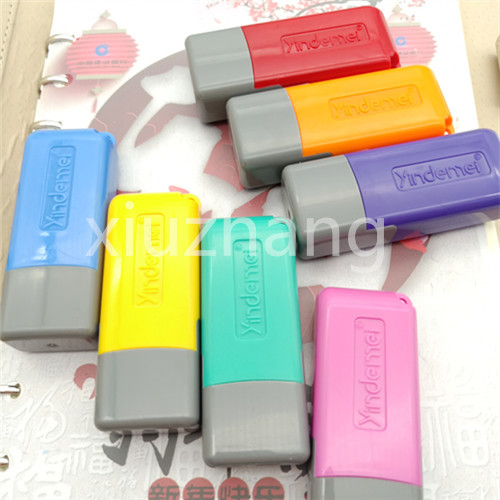 US $4 89 |Custom Names Stamper Self Inking Stamp chapter Photosensitive  seal Customized company name Logo Scrapbooking/Card7*16mm-in Stamps from  Home