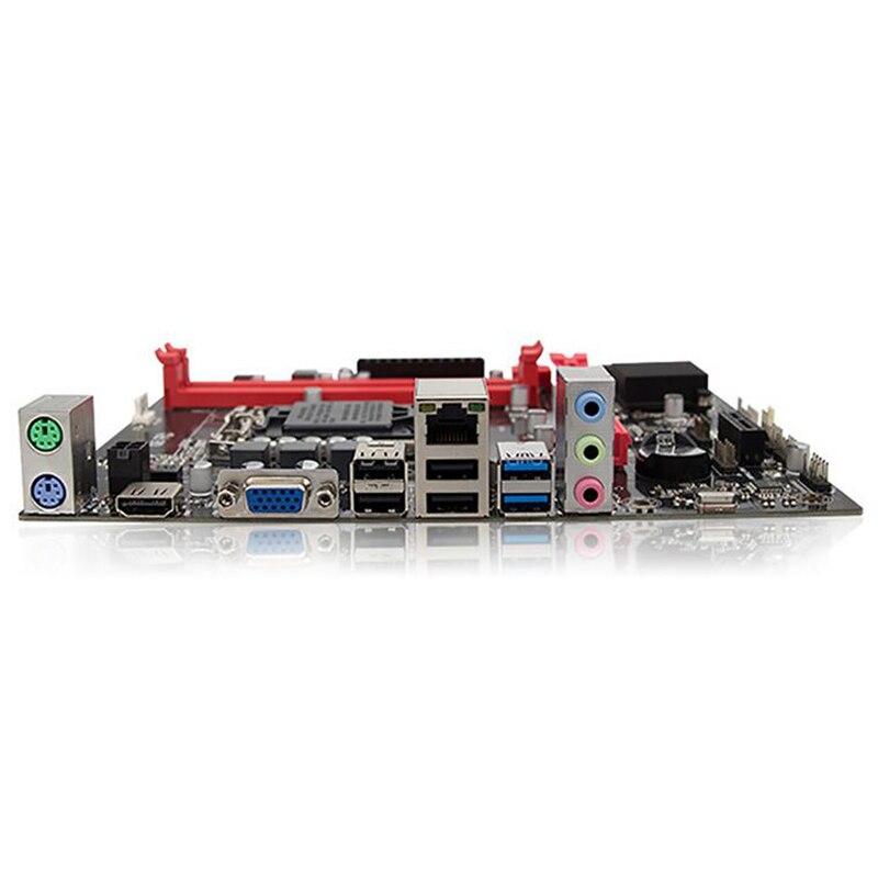 H81 ordinateur de bureau carte mère Socket Lga 1150 broches I3 I5 3470 4590 Cpu Super B85 micro-atx Uefi Bios - 5