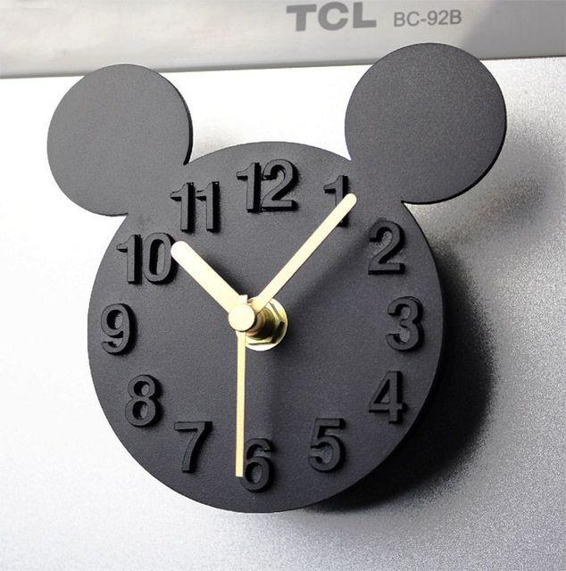 Moderne Designer Mickey Souris 3D Horloge Murale Blanc