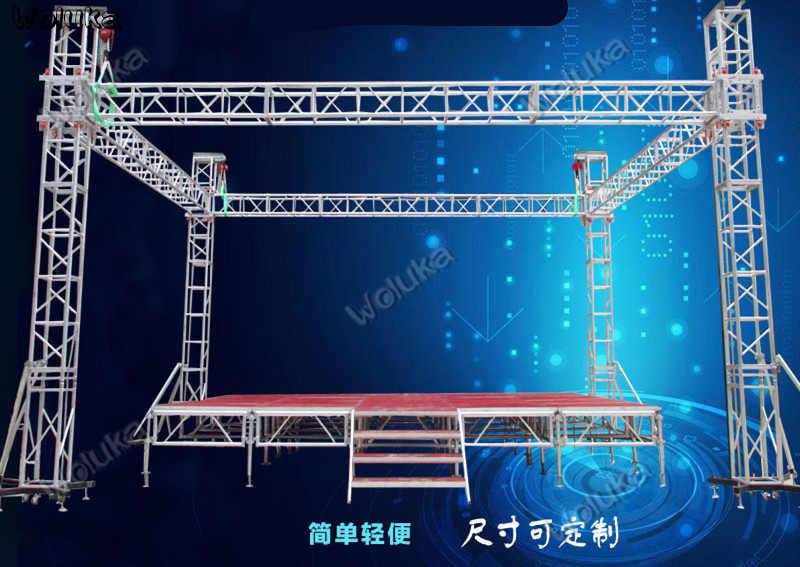 5*6*6m de aleación de aluminio etapa braguero rendimiento boda etapa estante nuevo entramado iluminación de Marcos CD50 W03